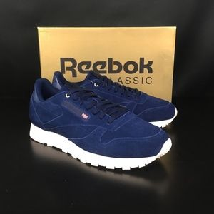98a789d0a27 Reebok Shoes - Reebok Blue Note Chalk Classic Leather MCC